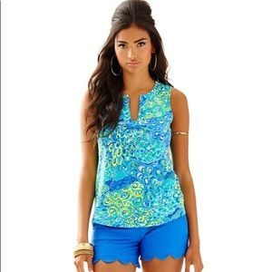 Lilly Pulitzer Marlow Top in Lilly's Lagoon